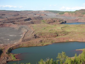 The Hull Rust Mine pit, Hibbing, Minnesota; Summer 1998