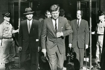 President John F. Kennedy departs the Hotel Duluth on Sept. 25, 1963. Duluth News Tribune archive