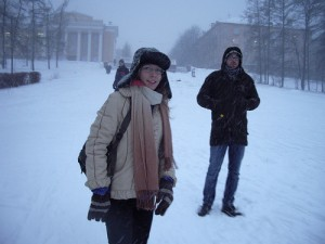 Petrozavodsk people doing Petrozavodsk things. Mikhail Petrov, Creative Commons