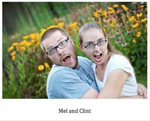 Clint Edwards and wife Melanie. They appear to be well-matched, according to the internet.