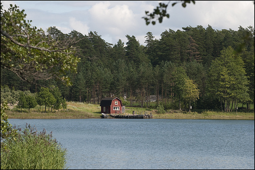 A sauna's proper place is by the lake, so you can jump in the cold water after sweating in the hot steam. Photo Don Wright / Creative Commons license.