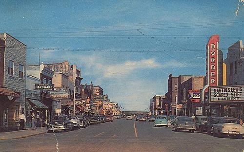 A postcard from International Falls, Minnesota, send in 1962. Creative Commons / Paul Sedra