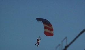 Santa skydives into Bentleyville