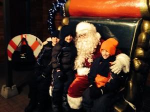 The boys and Santa Claus