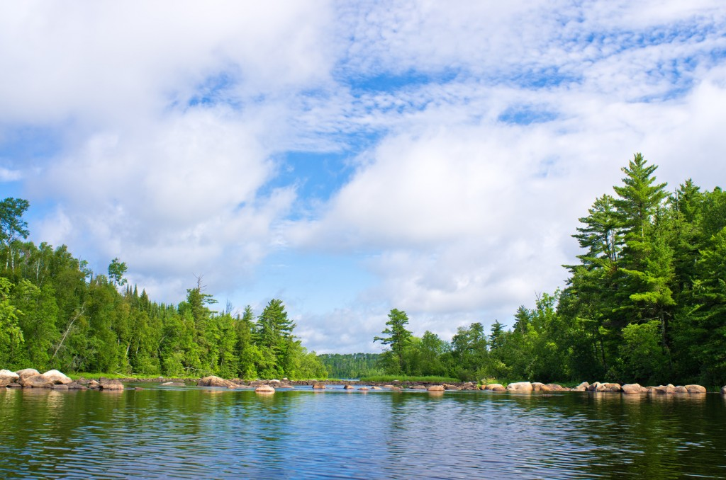 Above pipestone falls, on Newton Lake,  in the BWCAW.