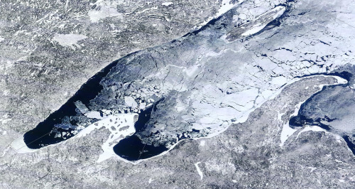 Lake Superior ice cover on March 12