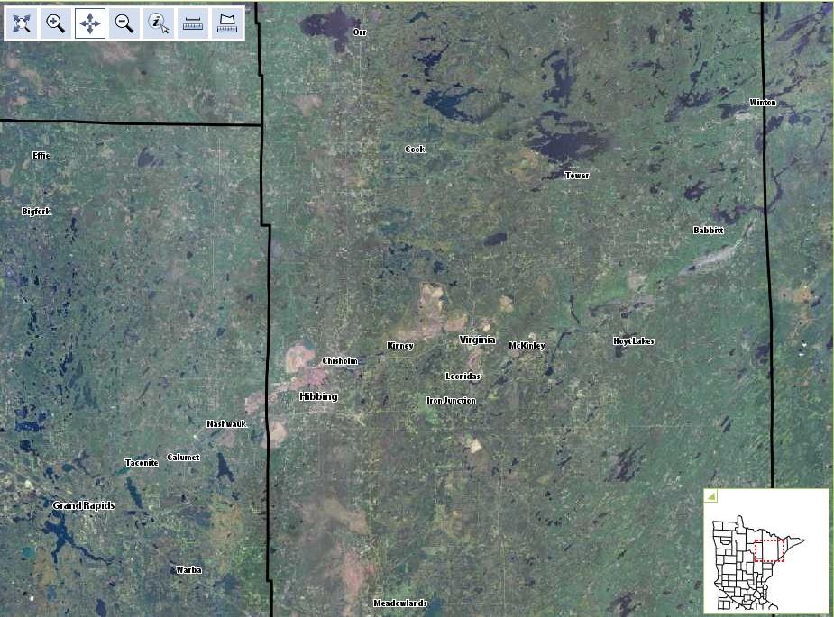 Mesabi Iron Range, 2010. Image: MN DNR