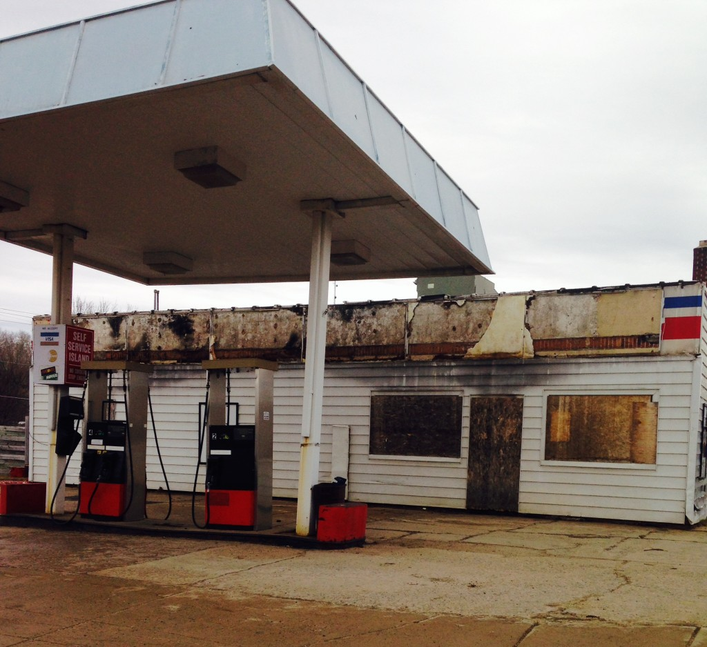 This former Nashwauk gas station burned years ago and will finally be demolished this week.