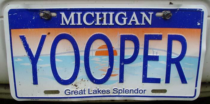 Yooper license plate