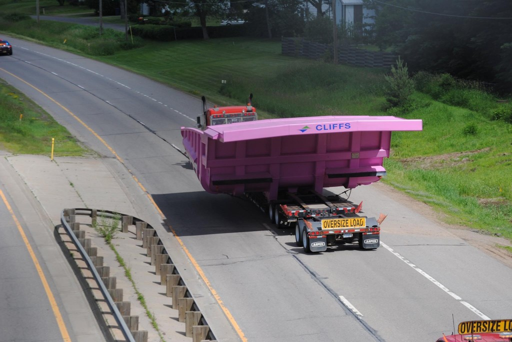 You can see from this view from an overpass just how big these trucks really are. PHOTO: Cliffs Natural Resources