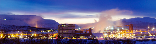 The vast iron mine at Kiruna, Sweden, is the world's largest active underground iron mine. The mine and city are working together to move the town to access vast iron reserves, just as Hibbing, Minnesota did almost 100 years ago. PHOTO: James Losey, Flickr Creative Commons license