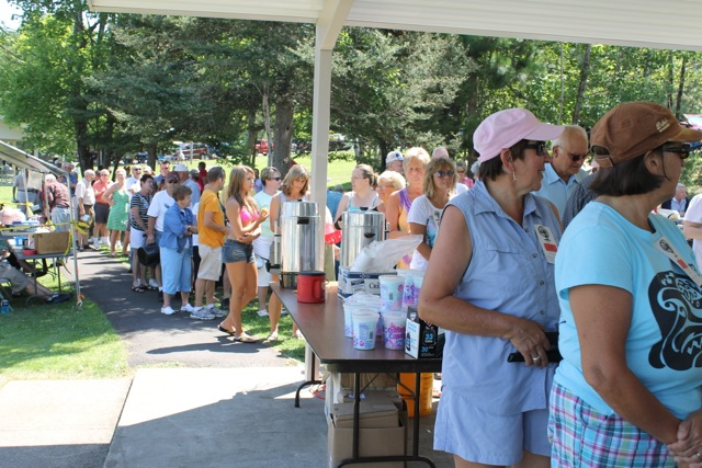 The booyah line grows long at the Vermilion Old Settlers Reunion and Picnic. The annual family fun and feed event is this Saturday, July 19 at the McKinley Lake Campground in Soudan.