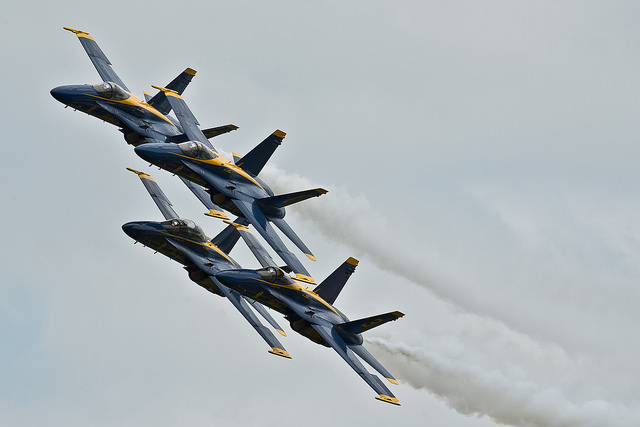 The U.S. Navy Blue Angels flight team will perform at the Duluth Air Show this weekend in Northern Minnesota. PHOTO: U.S. Navy, Creative Commons