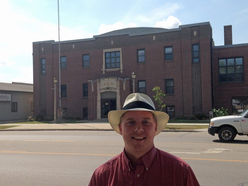 Great Northern Radio Show producer and host Aaron Brown visited Armory Square in downtown Park Rapids this summer in advance of this weekend's show.