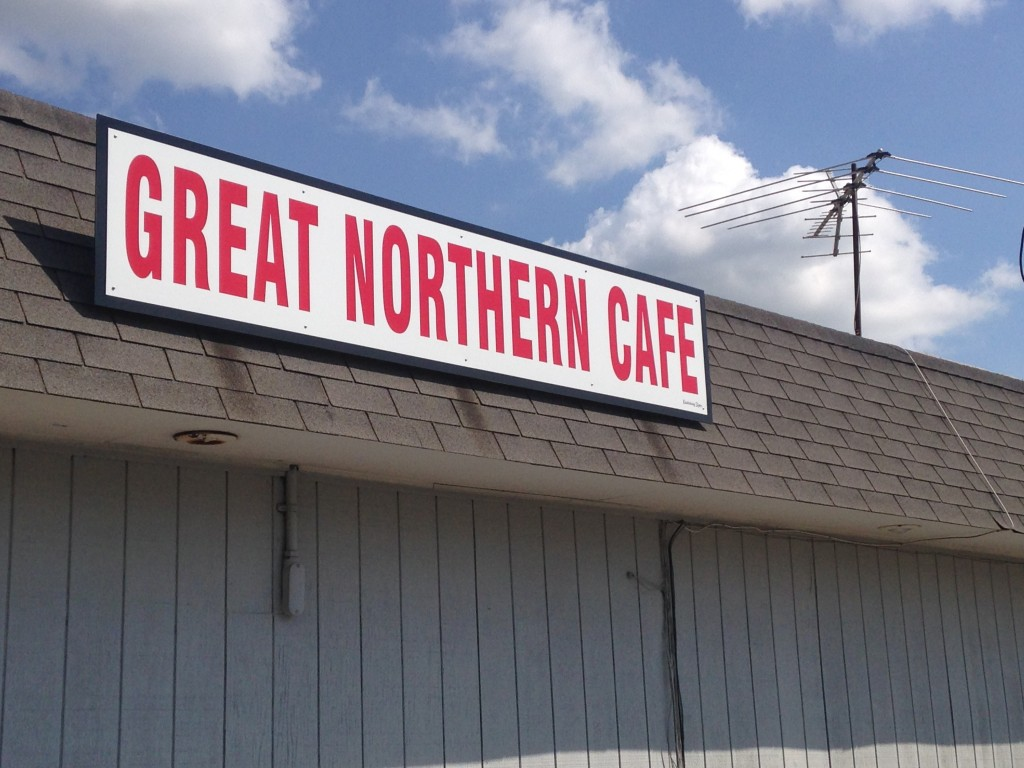 The Great Northern Cafe in Park Rapids, Minnesota. Park Rapids has one of the highest concentrations of restaurants in the state. I'll be broadcasting my Great Northern Radio Show from there Saturday evening on Northern Community Radio.