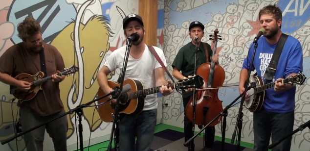 Trampled by Turtles covers Yes on AV Club Undercover. (PHOTO: screen shot)