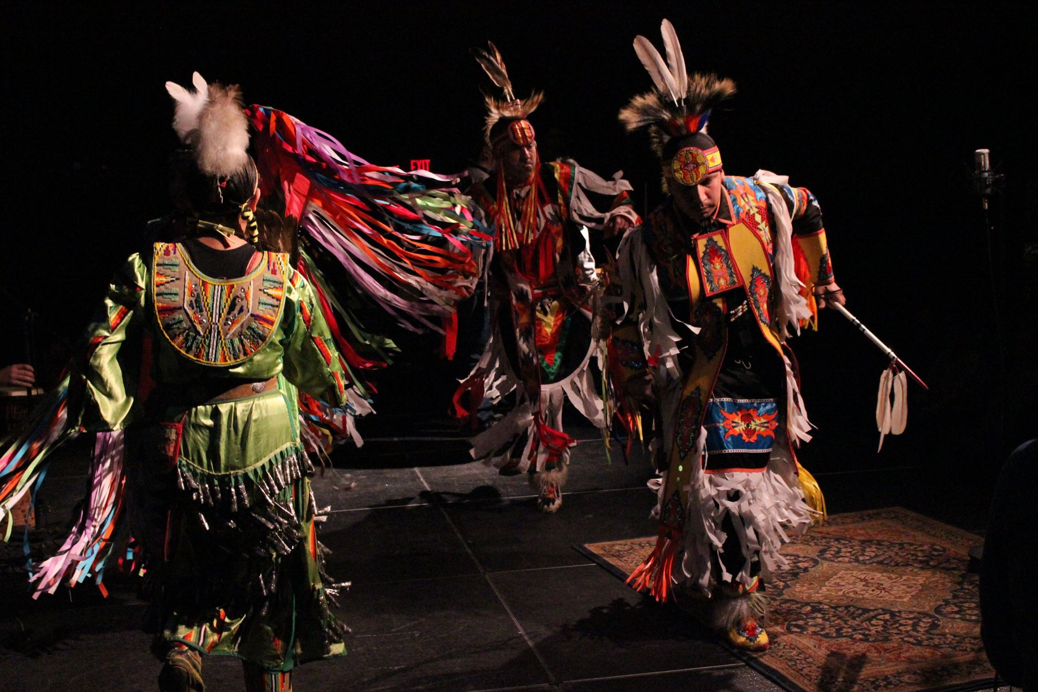 The Northbird Singers perform at the Dec. 6, 2014 Great Northern Radio Show in Walker, Minnesota. The Northbird Singers will be among the performers at the Bemijigamaag Powwow, Saturday, April 4, 2015 at the Sanford Center in Bemidji.