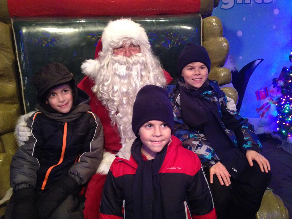 Our boys visited the Jolly Elf at Bentleyville in Duluth this year.