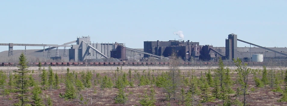 This is how I remember seeing Eveleth Taconite's production plant through the marshes near where I grew up south of Eveleth.