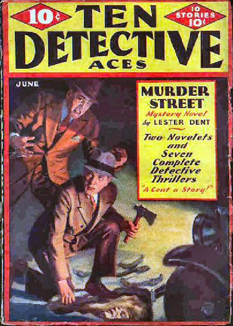 010 Ten Detective Aces May-Jun-1933 Includes A Burning Clue by E. Hoffmann Price