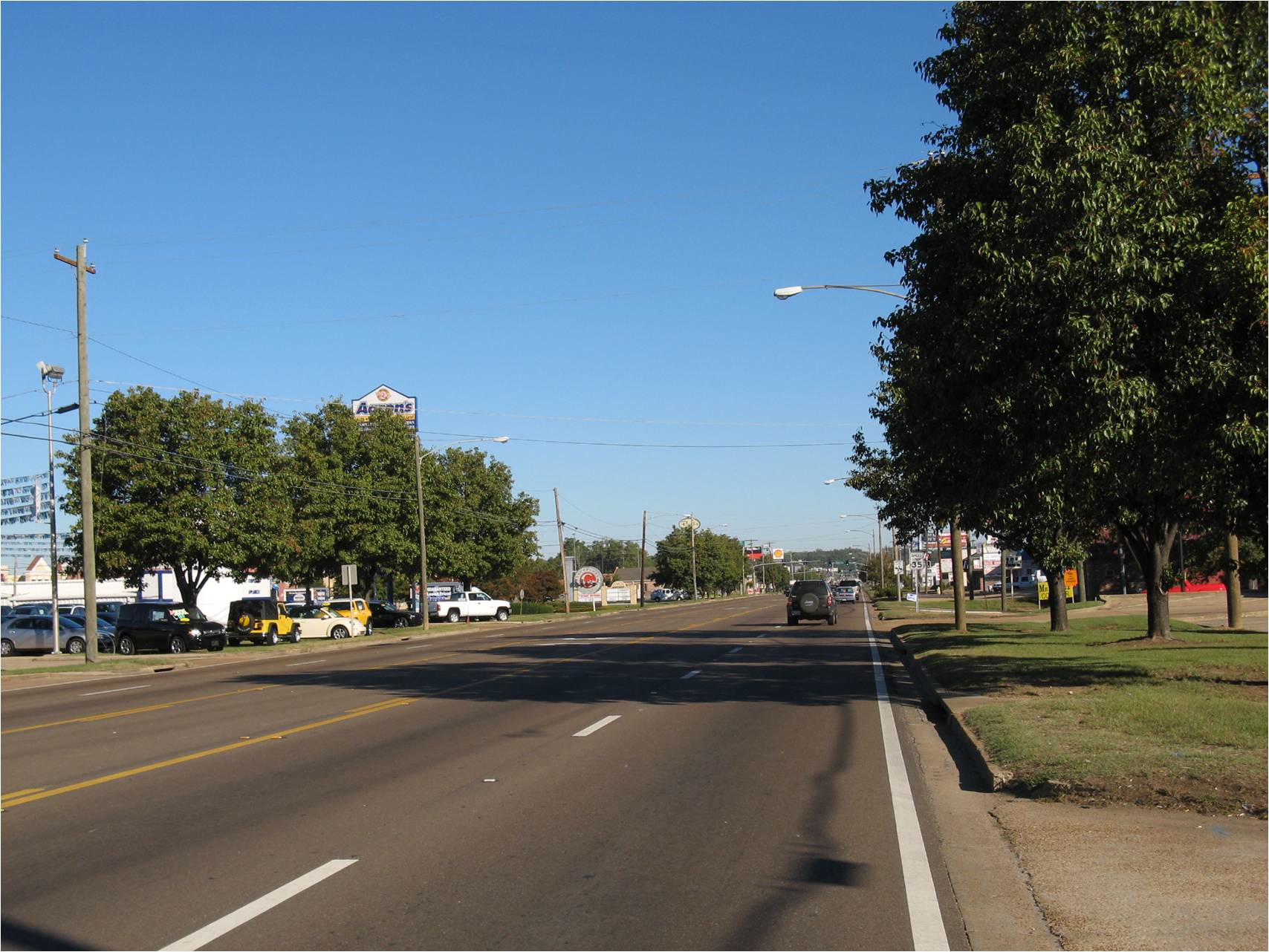 Archusa Avenue as you enter Quitman, Mississippi.