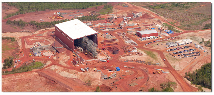 Magnetation's Plant 4 near Grand Rapids, shown here under construction, is now operational. (PHOTO: Magnetation)