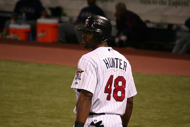 Torii Hunter at bat during his original stint as a Minnesota Twin. PHOTO: Dan_H, Flickr CC