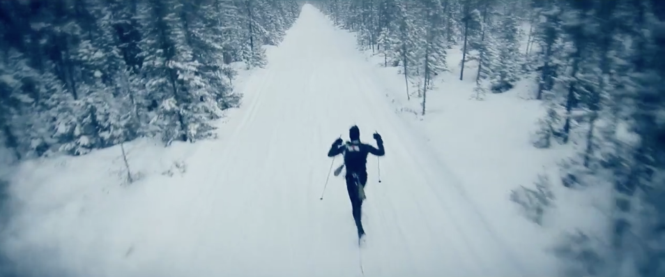 "Screen grab from ""Among the Wild,"" a documentary following three racers competing in the Arrowhead 135, an extreme cold weather run, ski and bike race in Northern Minnesota. The movie will be shown tonight at the Minnesota Discovery Center in Chisholm."