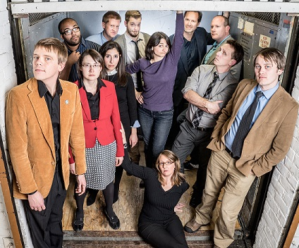 Theater of Public Policy is an improve troupe that does political humor. I think that comes across pretty well in this promotional photograph.