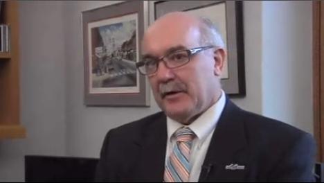 Screen shot of Sen. David Tomassoni being interviewed by Northland's News Center's Nick Minock.