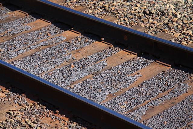 Taconite pellets along train tracks. PHOTO: Michael Hicks, Flickr CC.
