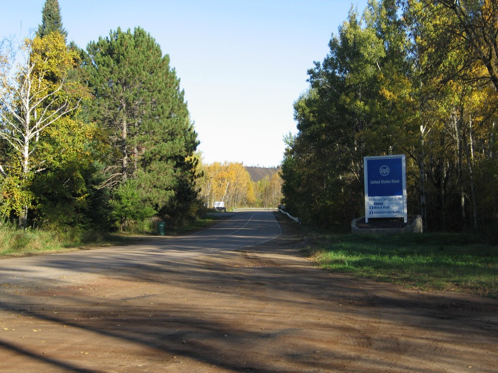The entrance to Keewatin Taconite, a U.S. Steel mine on the western Mesabi Iron Range. (PHOTO: City of Keewatin)
