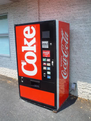 The Coke machine looked like this one.