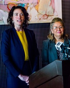 Duluth City Councilor Emily Larson with former Lt. Gov. Yvonne Prettner Solon. (Larson for Mayor Facebook page)