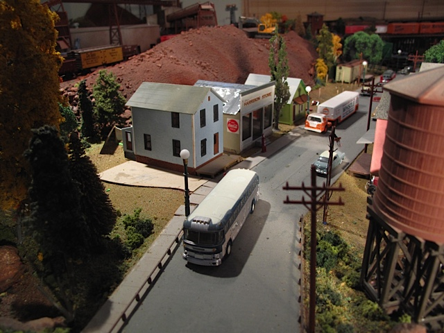Cooley, Minnesota was an Iron Range location town near present-day Nashwauk, depicted here in Alan Stone's railroad model.