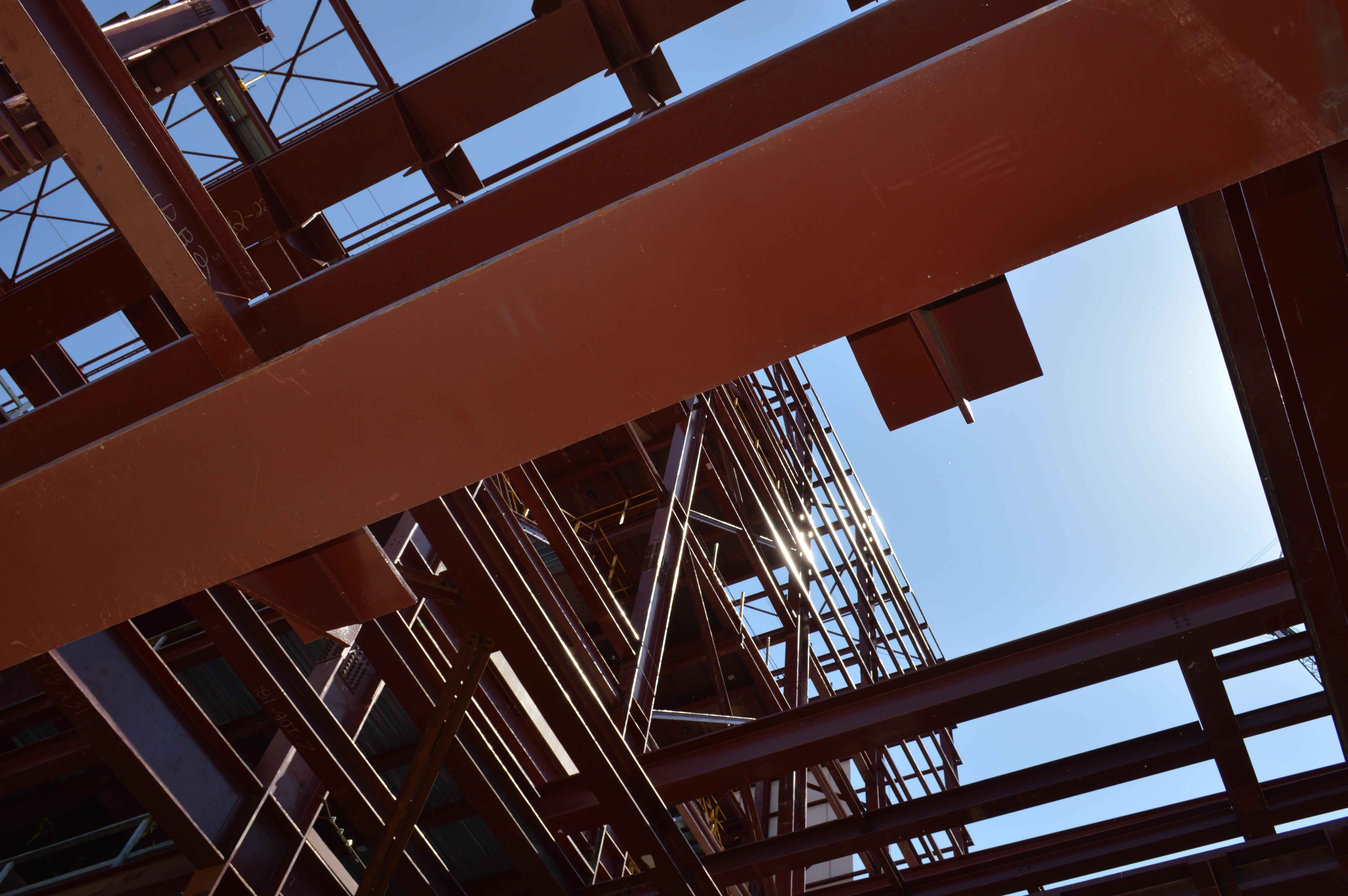 Construction at Essar Steel near Nashwauk, Minnesota, as seen May 2015. (Aaron J. Brown)