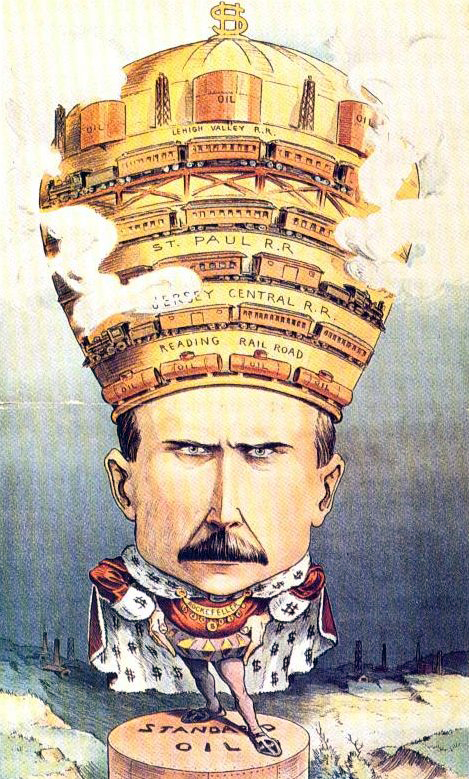 Puck magazine cartoon of John D. Rockefeller, 1901