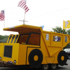 A Steelworkers Fourth of July float in an Iron Range parade. PHOTO: United Steelworkers, Flickr CC
