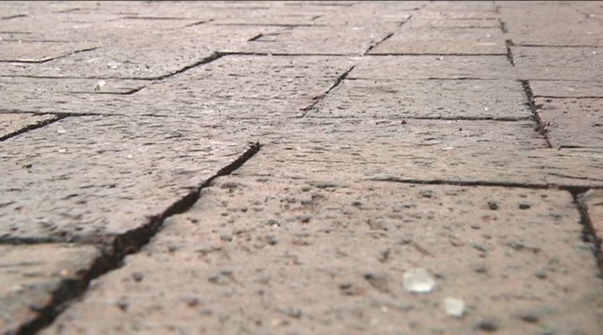Superior Street bricks in Duluth, Minnesota. (PHOTO via Northland's NewsCenter)