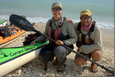 Amy and Dave Freeman finished their kayak journey around North American at Key West, Florida. (Bryan Hansel)