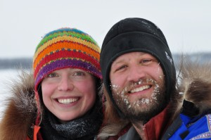 Amy and Dave Freeman during their 11,700 mile circumnavigation of North America by kayak, foot and dog sled. (PHOTO: Ron Doctor)