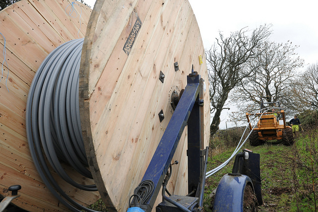 Fiber optic cables being installed. (PHOTO: Johnnie Pakington for BT, Flickr CC)