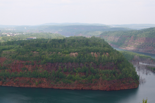 The Mineview in the Sky overlooking Virginia, Minnesota, seen here in 2010, will close permanently after a special event this Sunday. A new route for Highway 53 involving a bridge that will eventually span this view will shut off the mine view's source of traffic. (PHOTO: Roy Luck, Flickr CC)