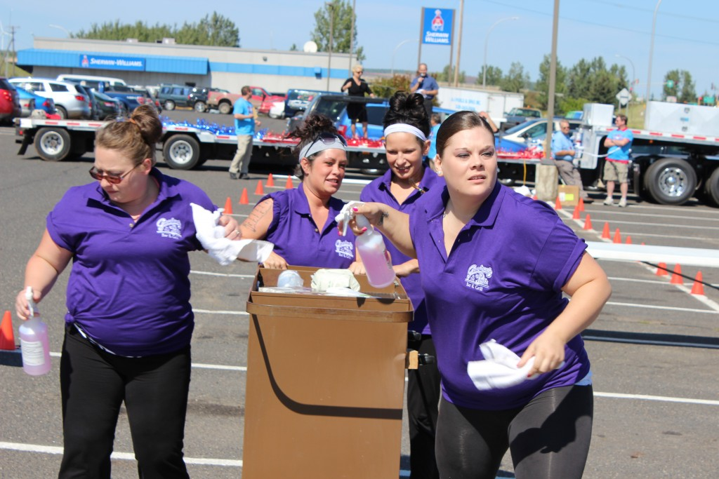 The team from the Hibbing Park hotel competes in last year's Housekeeping Olympics. (PHOTO via Iron Range Tourism)