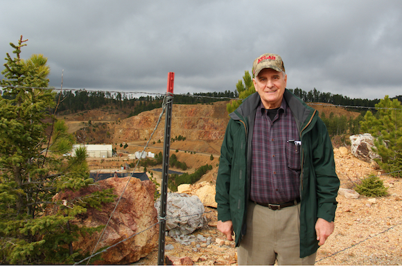 Gov. Mark Dayton visited the Gilt Edge Mine in South Dakota on Tuesday, Oct. 27, 2015. He will also visit the Eagle River mine in Michigan on Thursday, Oct. 29 in an effort to better understand nonferrous mineral mining as he weighs a decision on permitting PolyMet near Hoyt Lakes. (Matt Swenson / governor's office)