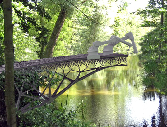 The Dutch company MX3D announced plans this year to build a 3-D printed steel walk bridge in Amsterdam.