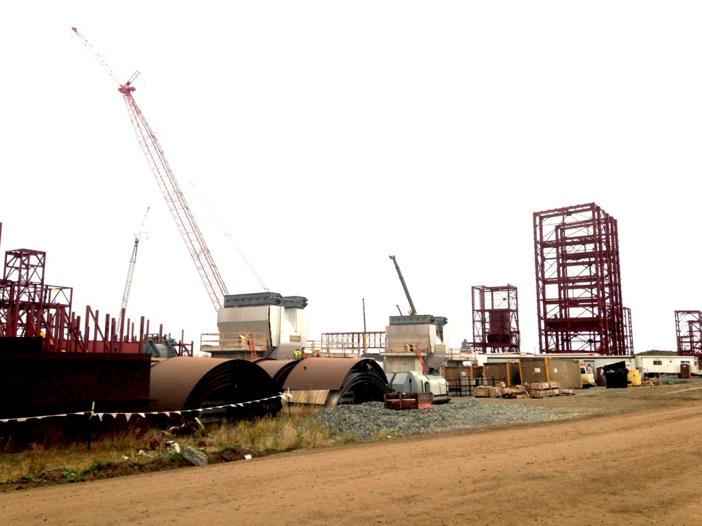 Construction continues at Essar Steel's new taconite plant near Nashwauk on Oct. 8, 2015. (Aaron J. Brown)