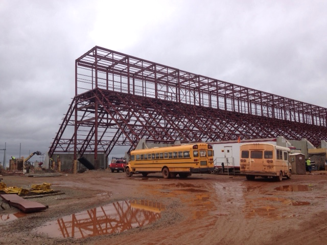 Construction at Essar Steel Minnesota near Nashwauk on Oct. 8, 2015. (Aaron J. Brown)