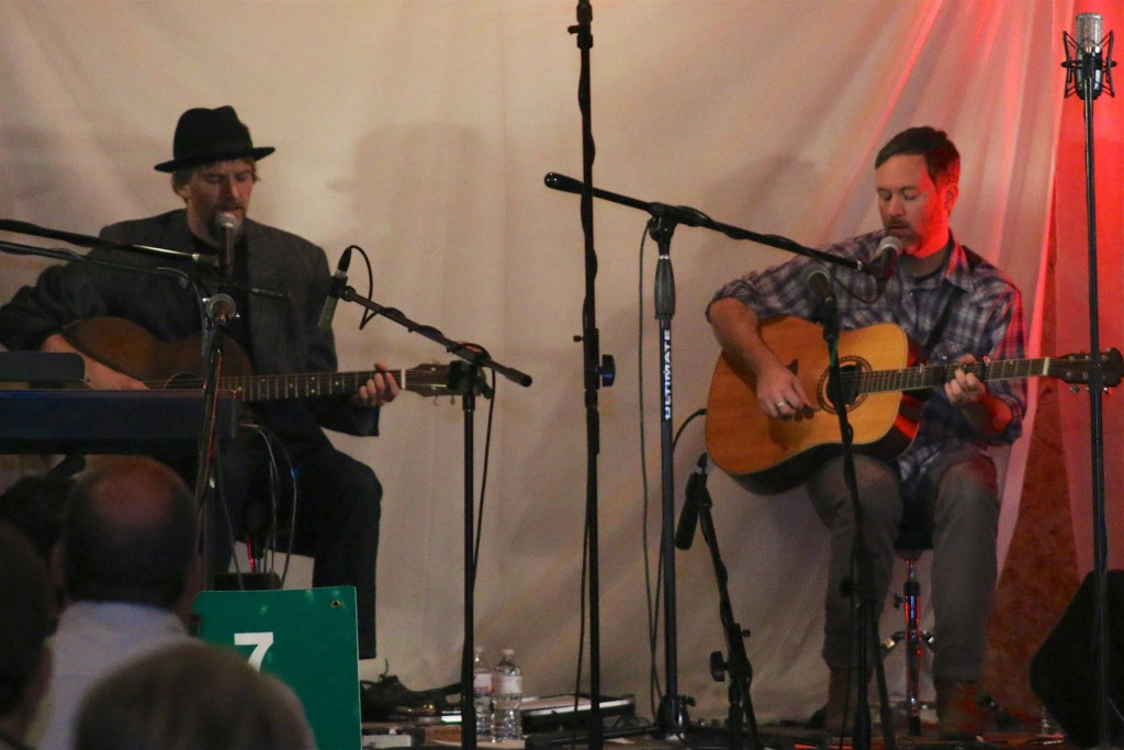 The Hobo Nephews of Uncle Frank perform in the Nov. 7, 2015 Great Northern Radio Show at Larson's Barn in McGregor, Minnesota.