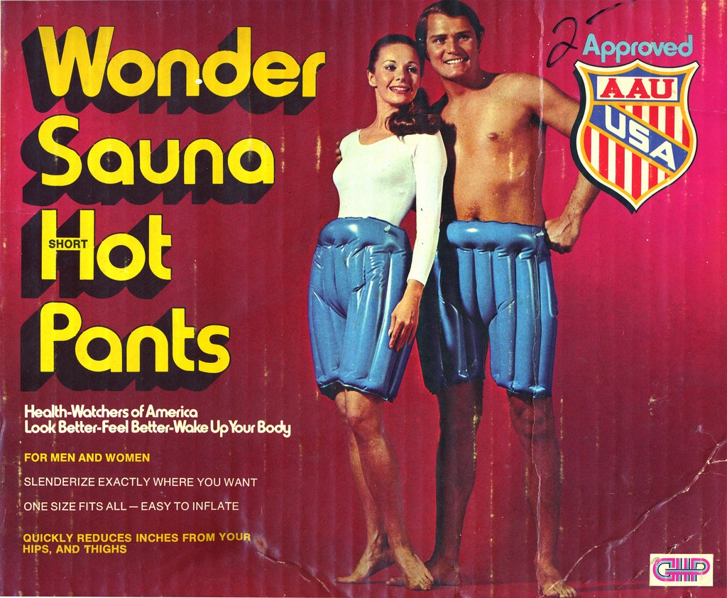 Wonder Sauna Hot Pants. A working solution to end naked parties on the Iron Range?